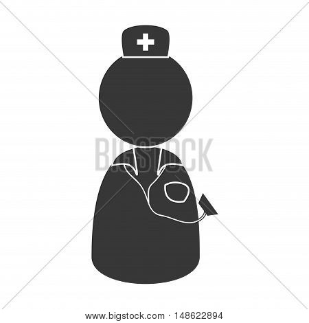 avatar medical doctor man person with hat. vector illustration