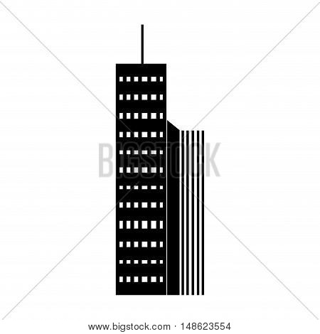 urban city towers buildings. modern architecture construction. vector illustration