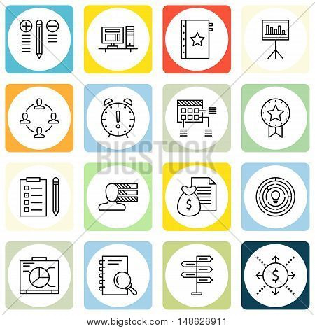 Set Of Project Management Icons On Teamwork, Task List, Personality And More. Premium Quality Eps10
