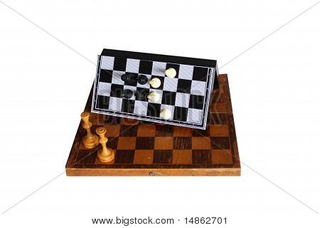 The magnetic  chess.