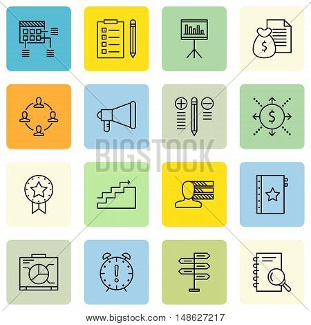 Set Of Project Management Icons On Promotion, Charts, Task List And More. Premium Quality Eps10 Vect