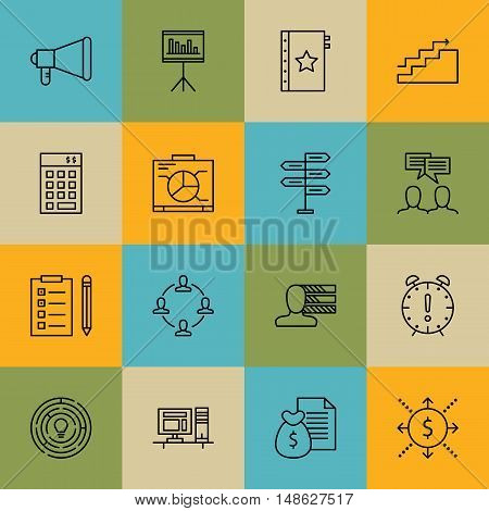 Set Of Project Management Icons On Money Revenue, Creativity, Investment And More. Premium Quality E