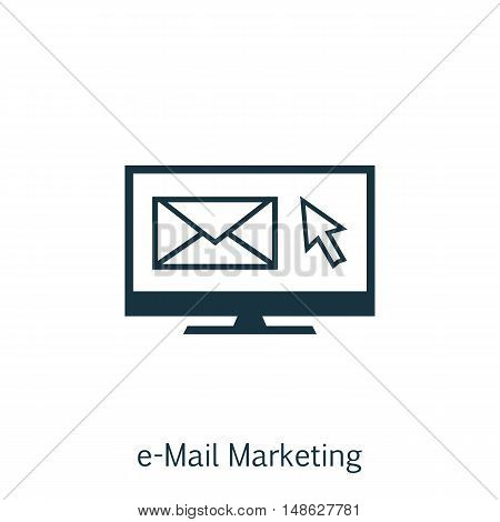 Vector Illustration Of Seo, Marketing And Advertising Icon On Email Marketing In Trendy Flat Style.
