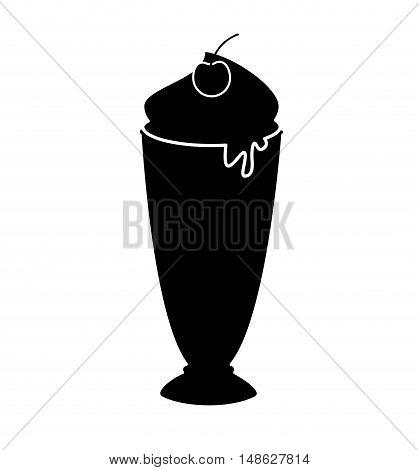 delicious milk shake icon vector illustration design