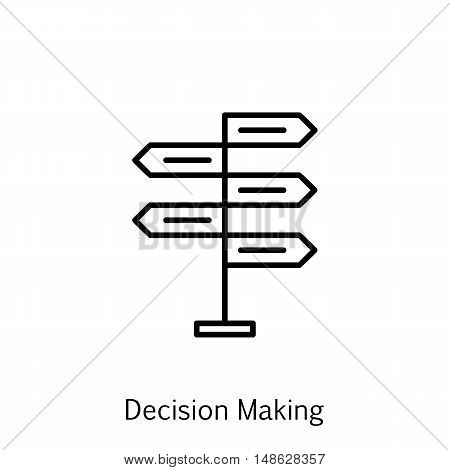 Vector Illustration Of Project Management Icon On Opportunity, Decision Making And Strategy In Trend