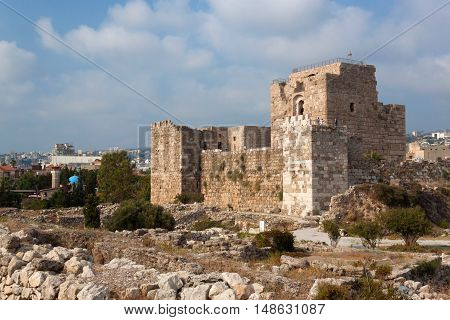 The old crusader's castle in the historic city of Byblos. Lebanon.