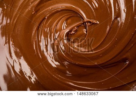 background of chocolate paste sugar  nuts, calories