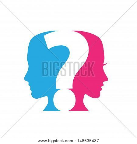 Vector concept of Questions Couples question mark