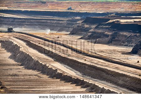 Structured Layers of Earth at open cast Brown Coal Mining at Garzweiler