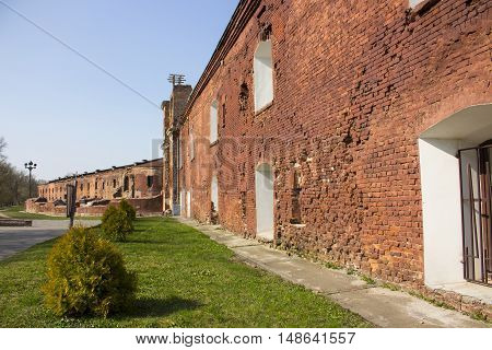 Ruins Brest fortress hero red brick green grass