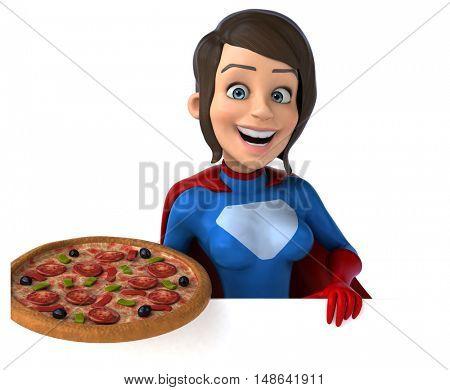 Super woman - 3D Illustration