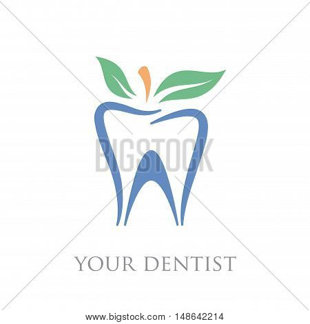 Vector sign natural toothpaste dental care homeopathic