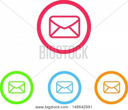Colorful Set of Mail or Message Icons