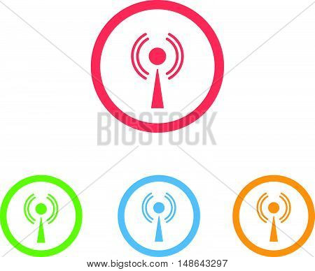 Colorful Set of Signal or Cellular Network Icons