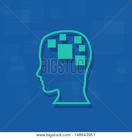 Vector sign digital generation, isolated on blue