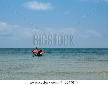 Little Boat In The Sea At Koh Kood Island