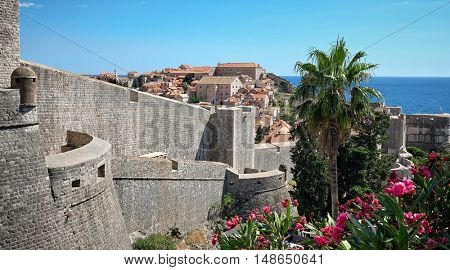 Dubrovnik City Walls and Old Town panoramic view, Croatia