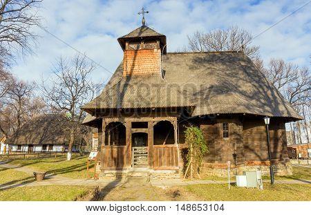 The Rapciuni church in Village Museum, Bucharest, Romania.