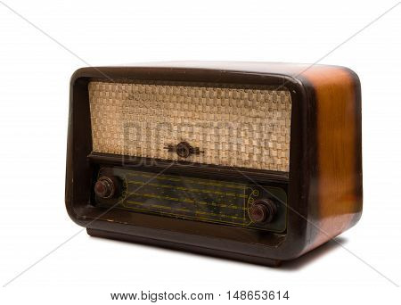 retro radio nostalgia isolated on white background