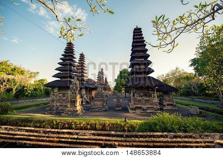 Details Of Pura Temple In Bali, Indonesia, Hindu Religion With Temples And Worshipping Palace