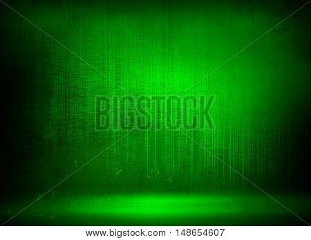 grunge green metal plate background