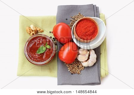 Georgian sauce Satsebeli with tomatoes and nuts