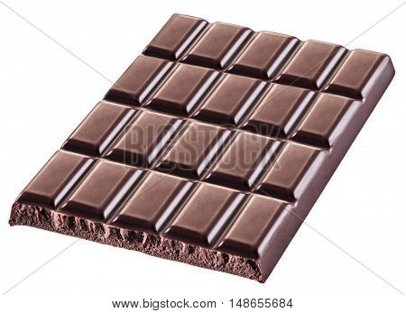 Pieces of chocolate bar. File contains clipping paths.
