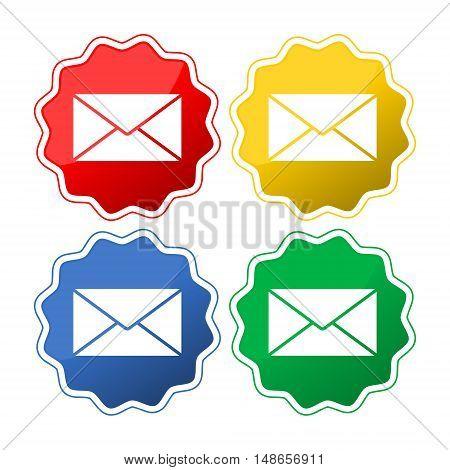 Envelope Mail icon, vector illustration on white background