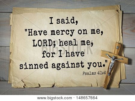 TOP-1000.  Bible verses from Psalms.I said,