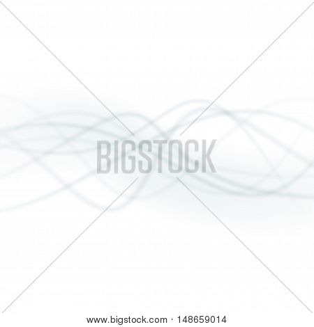Smooth Light Waves Lines Vector Abstract Background.
