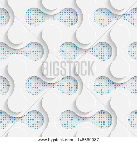 Seamless Lattice Pattern. Vector Abstract Modern Design. White and Blue  Geometric Background.