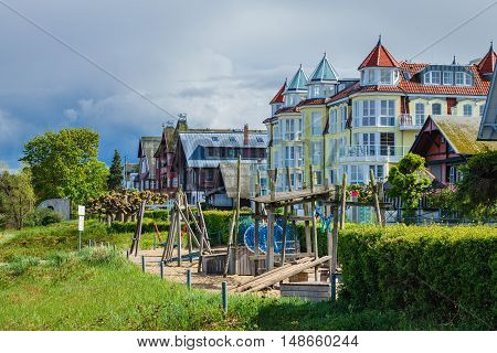 Buildings in Bansin on the island Usedom (Germany).