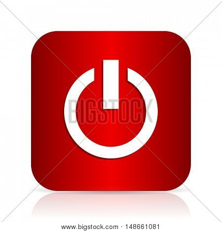 power red square modern design icon