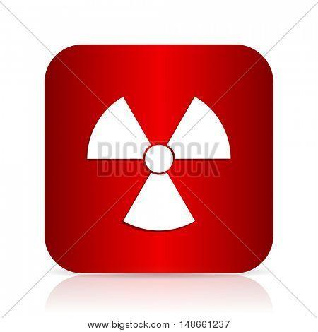 radiation red square modern design icon