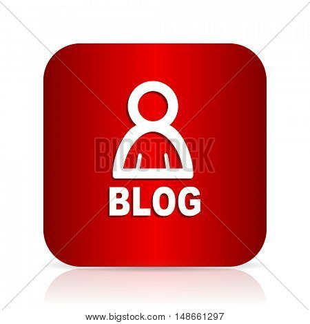 blog red square modern design icon