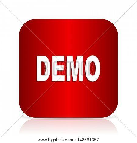 demo red square modern design icon