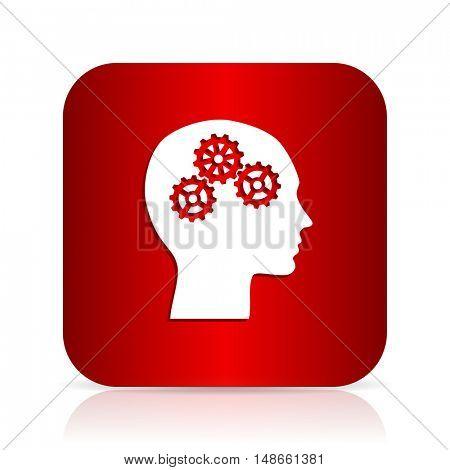 head red square modern design icon