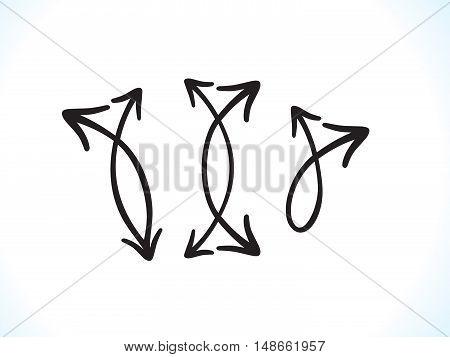 abstract artistic multiple black arrows vector illustration