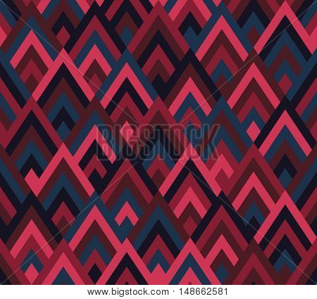 Seamless pattern rhombus style. Multicolor abstract background. Fashion ornament. Vector illustration.