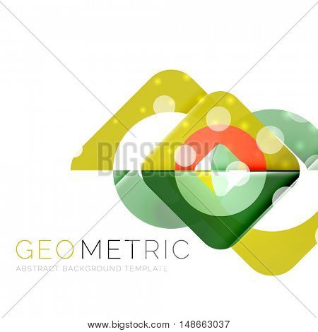 Modern abstract round shapes repititon vector background