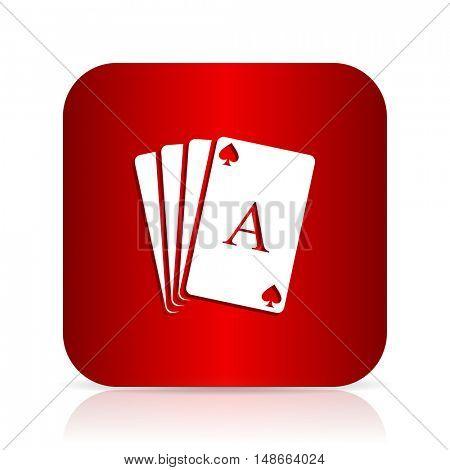 card red square modern design icon
