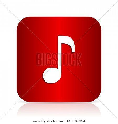 music red square modern design icon