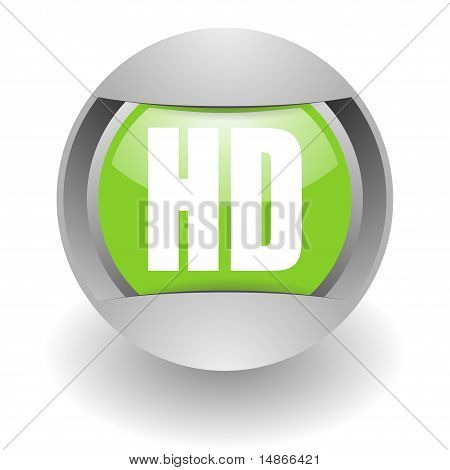 hd green glossy icon
