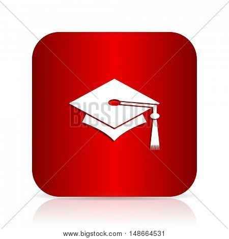 education red square modern design icon