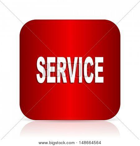 service red square modern design icon