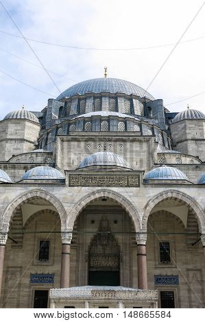 The Courtyard Of The Suleymaniye Mosque. Istambul, Turkey