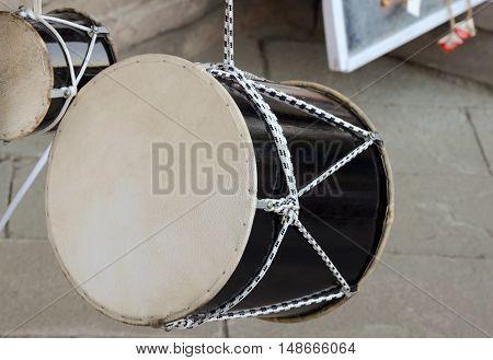 georgian national drum named DOLI, musical instrument.