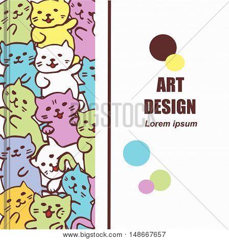 High quality original book cover with cats