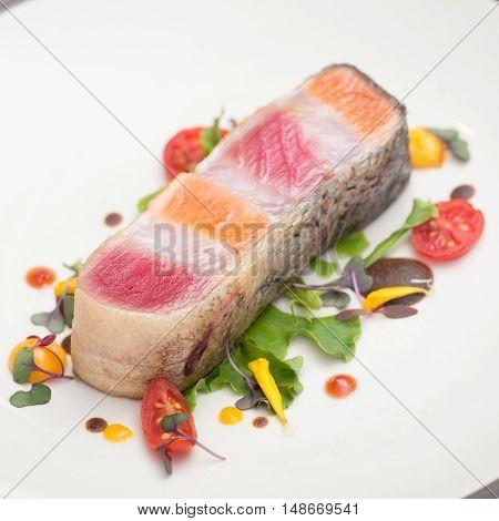 Steak layer fish / SalmonTuna and seabass gfish Steak