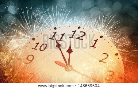 Happy New Year . Mixed media